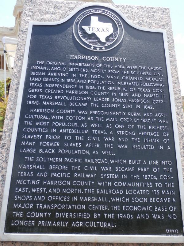 Harrison County Historical Marker - Click on to read!
